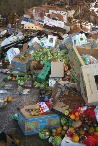 Throwaway society: Tonnes of food are wasted annually. Picture: Jbloom