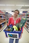 Super shopper: A basket filled with Fairtrade goodies. Picture: Marcus Lyon